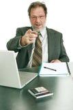Hombre de negocios asertivo Fotos de archivo
