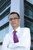 Hombre de negocios asiático acertado Foto de archivo