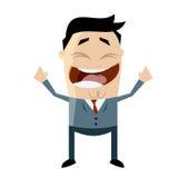 Hombre de negocios asiático alegre stock de ilustración