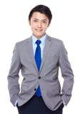 Hombre de negocios asiático apuesto joven fotos de archivo libres de regalías