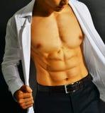 Hombre de negocios asiático muscular Imágenes de archivo libres de regalías