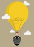 Hombre de negocios Balloon Ideas Fotos de archivo
