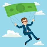 Hombre de negocios Banknote Parachute stock de ilustración