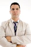 Hombre de negocios bien vestido con las lentes Imagenes de archivo
