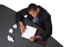 Hombre de negocios - bloque de los programas de escritura Fotografía de archivo
