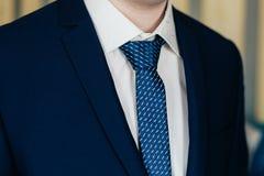 Hombre de negocios In Blue Suit y lazo Fotos de archivo libres de regalías