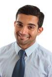 Hombre de negocios cómodo sonriente Imagen de archivo libre de regalías