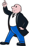 Hombre de negocios calvo que destaca stock de ilustración