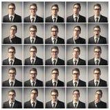 Hombre de negocios cambiante Imágenes de archivo libres de regalías