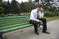 Hombre de negocios cansado. Fotografía de archivo libre de regalías