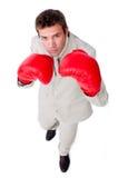 Hombre de negocios carismático que bate la competición Foto de archivo libre de regalías
