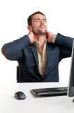 Hombre de negocios casual With Pain In su cuello Fotos de archivo