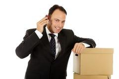 Hombre de negocios caucásico atractivo Fotos de archivo libres de regalías