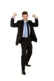 Hombre de negocios caucásico joven, ganador Imágenes de archivo libres de regalías