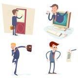 Hombre de negocios Characters Set Icon del vintage en elegante Imagenes de archivo