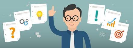 Hombre de negocios Checklist Planning Concept libre illustration