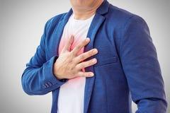 Hombre de negocios con ataque del corazón Fotografía de archivo