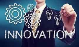 Hombre de negocios con concepto de la innovación Foto de archivo libre de regalías