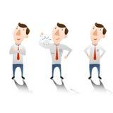 Hombre de negocios con confidente ilustración del vector