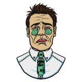 Hombre de negocios con corte de pelo corto en la desesperación stock de ilustración