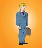 Hombre de negocios con el agregado Imágenes de archivo libres de regalías