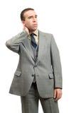 Hombre de negocios con el cuello derecho foto de archivo libre de regalías