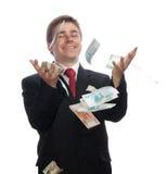 Hombre de negocios con el dinero Fotografía de archivo libre de regalías