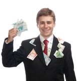 Hombre de negocios con el dinero Imagen de archivo libre de regalías