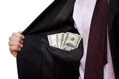 Hombre de negocios con el dinero Fotografía de archivo