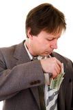 Hombre de negocios con el dinero Fotos de archivo