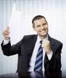 Hombre de negocios con el documento imagenes de archivo
