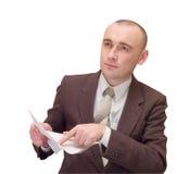 Hombre de negocios con el documento Foto de archivo