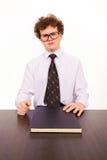 Hombre de negocios con el libro foto de archivo