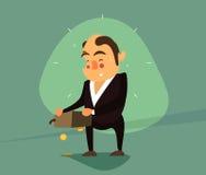 Hombre de negocios con el monedero invertido Fotografía de archivo libre de regalías