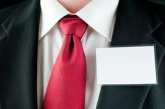 Hombre de negocios con el nametag Fotografía de archivo