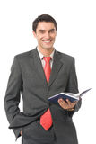 Hombre de negocios con el organizador Fotos de archivo