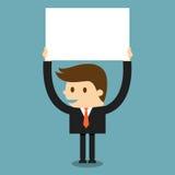 Hombre de negocios con el papel en blanco Imágenes de archivo libres de regalías