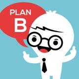 Hombre de negocios con el plan B en burbuja del discurso Foto de archivo
