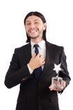 Hombre de negocios con el premio de la estrella Imagenes de archivo