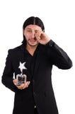 Hombre de negocios con el premio de la estrella Foto de archivo libre de regalías