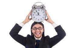 Hombre de negocios con el reloj Imagen de archivo