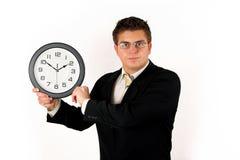 Hombre de negocios con el reloj Fotos de archivo libres de regalías