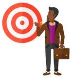 Hombre de negocios con el tablero de la blanco stock de ilustración