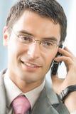 Hombre de negocios con el teléfono celular Imagen de archivo