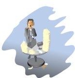 Hombre de negocios con exceso de trabajo Imagenes de archivo