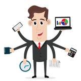 Hombre de negocios con habilidades polivalente y multi libre illustration