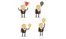 Hombre de negocios con ideas Foto de archivo libre de regalías