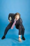 Hombre de negocios con la bola Fotos de archivo