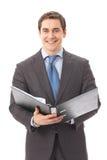 Hombre de negocios con la carpeta Imagen de archivo