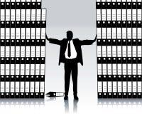 Hombre de negocios con la carpeta de clasificación Foto de archivo libre de regalías